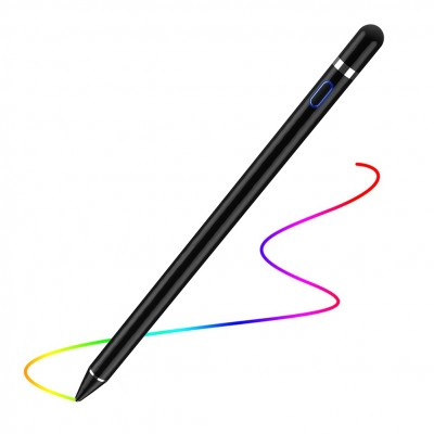 Digital Active Stylus Pen for iPad / iPhone or Android Touch Screen Devices Black