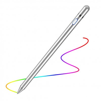 Digital Active Stylus Pen for iPad / iPhone or Android Touch Screen Devices Silver