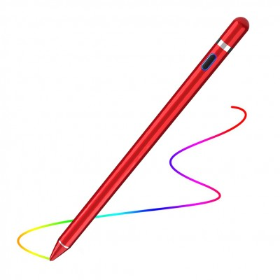 Digital Active Stylus Pen for iPad / iPhone or Android Touch Screen Devices Red